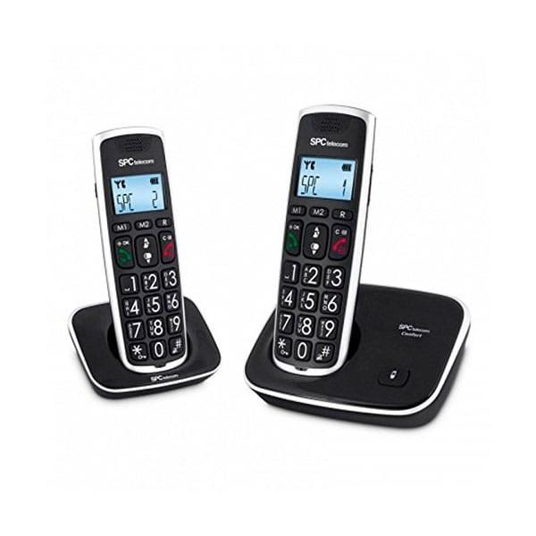 Spc telecom 7609n teléfono fijo inalámbrico / comfort duo