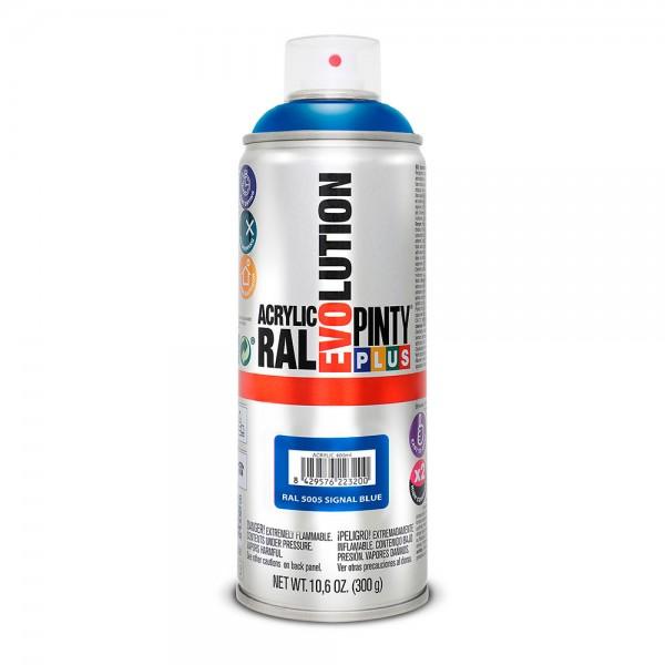 Pintura en spray pintyplus evolution 520cc ral 5005 azul señales
