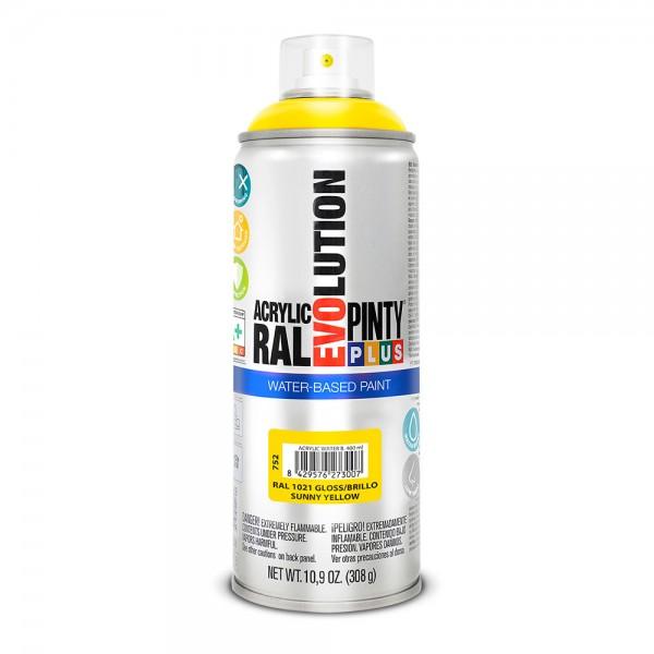 Pintura en spray pintyplus evolution water-based 520cc ral 1021 amarillo colza