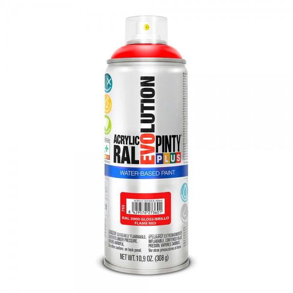 Pintura en spray pintyplus evolution water-based 520cc ral 3000 rojo vivo
