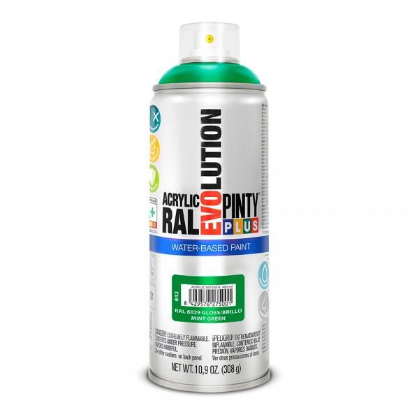 Pintura en spray pintyplus evolution water-based 520cc ral 6029 verde menta
