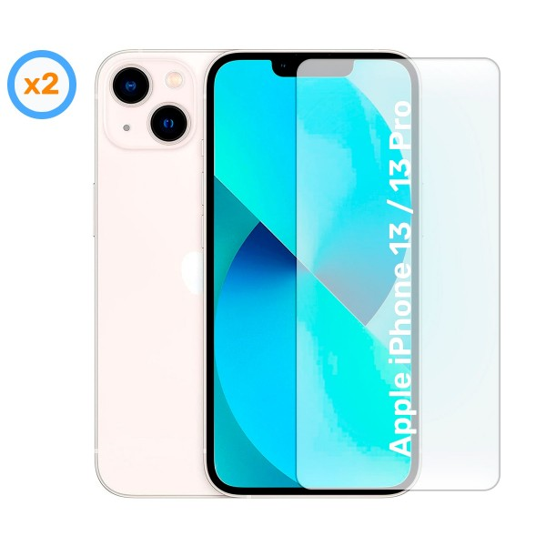 Akashi cristal protector (x2) para apple iphone 13 mini